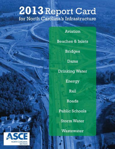 2013 report card for North Carolina's Infrastructure