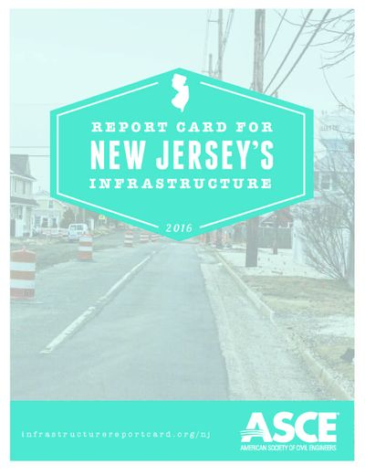 report card for New Jersey's infrastructure 2016