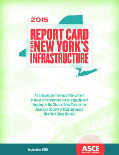 2015 report card for New York's infrastructure