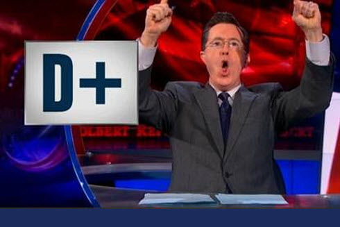 colbert with D+