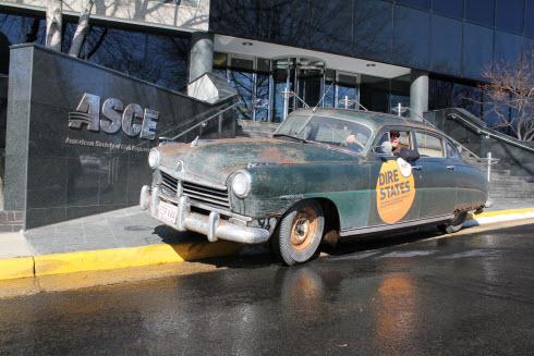 asce dire state rusty car