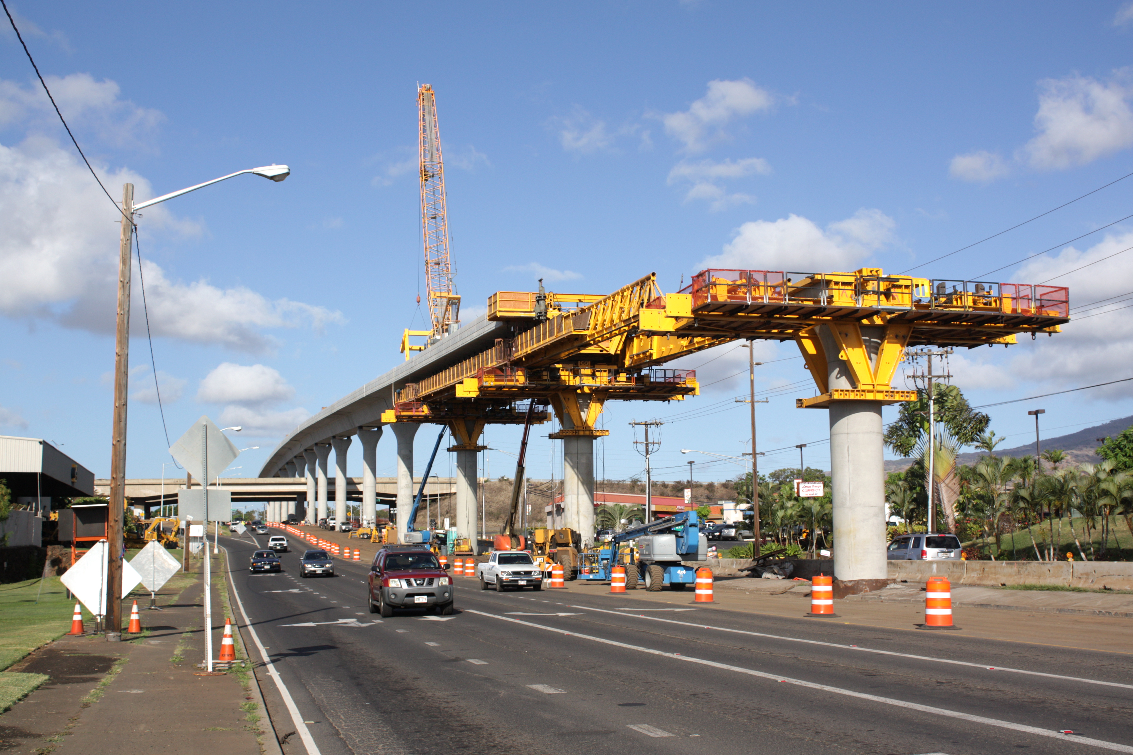 honolulu rail project under construction